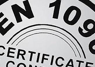 Accreditation certificate EN1090