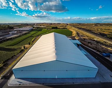 VALL MaxiSpace, large removable industrial building