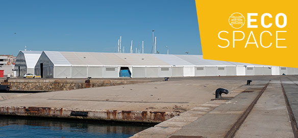 Removable industrial tents for logistics spaces in ports