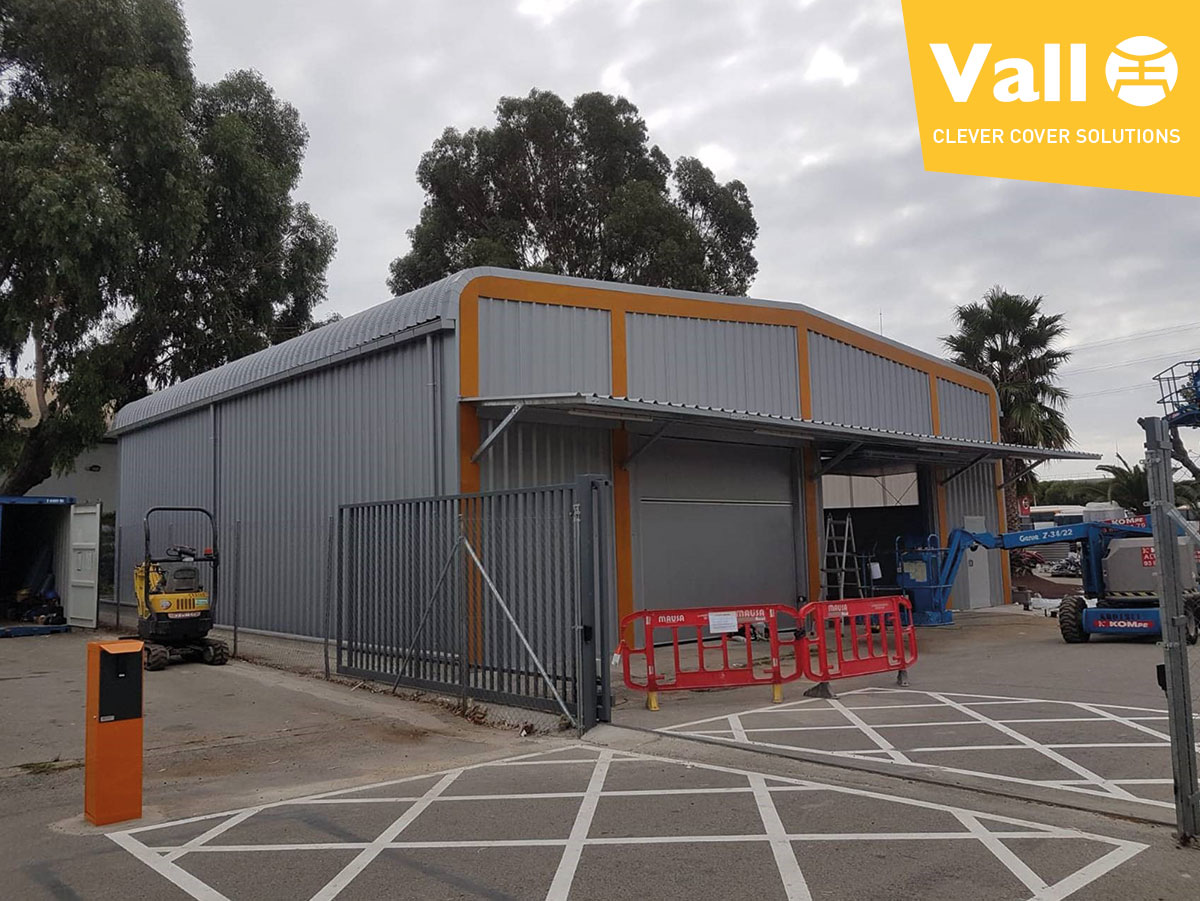 first removable steel building