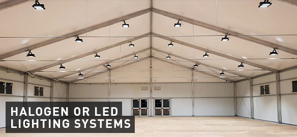 VALL's complements, halogen or led lighting systems