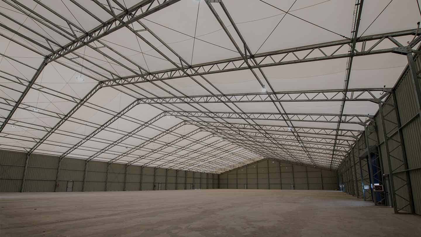 MaxiSpace, our biggest removable warehouse buildings