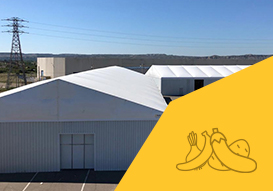 VALL relocatable industrial warehouses to stock agricultural products