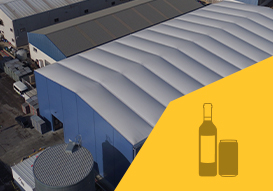 VALL you can stock beverage in our removable industrial buildings