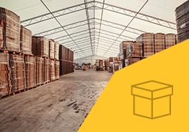 VALL cardboard storage in a industrial buildings
