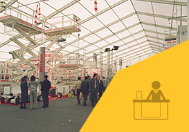 Vall exhibition points with our relocatable industrial tents
