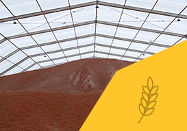 VALL grain storage in our removable industrial warehouse