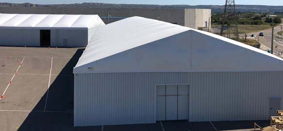 Removable industrial buildings for agricultural products storage