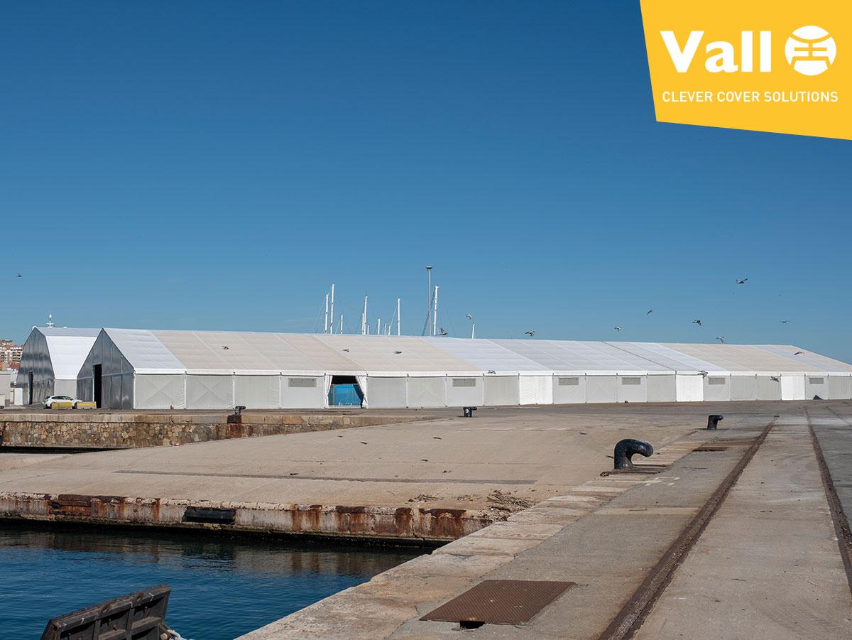 logistics centre in a port terminal